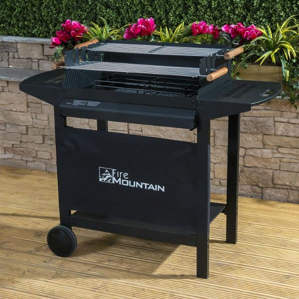 Fire Mountain Deluxe Trolley Charcoal Barbecue Review