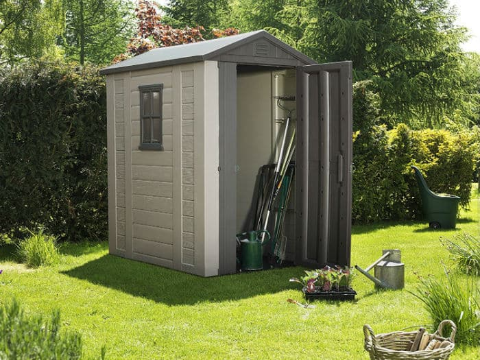 Keter Factor Outdoor Plastic Garden Storage Shed, 4 x 6 feet Review