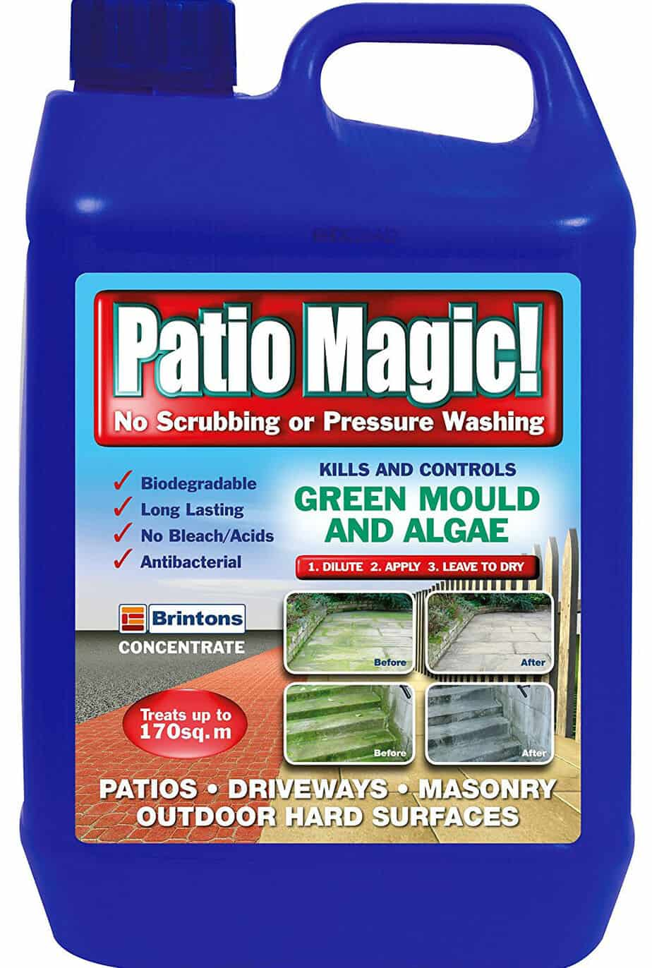 Patio Magic 5 Litre Green Mould and Algae Killer Liquid Concentrate Bottle Review