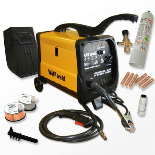 Wolf MIG 140 Gas : No Gas Combination Turbo, Smooth DC Mig Welder Review