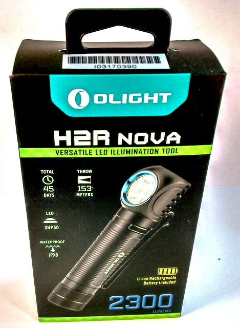 H2R NOVA retail box - We like how it comes with all the information on the box with lots of detail and specification on the back such as features and spec in terms of lumens and run time in each mode